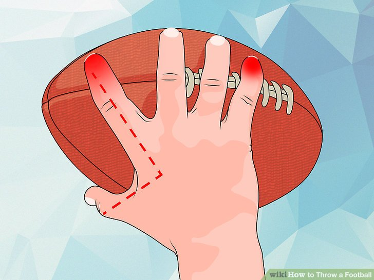 throwing a spiral with a football
