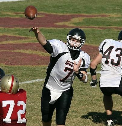 quarterback throwing a spiral