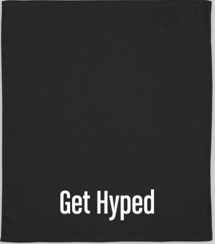 custom get hyped football towel