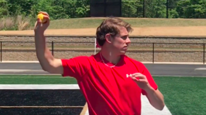 Arm slot when throwing a football far and accurate