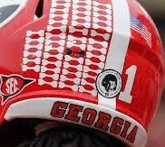 Georgia Bulldogs sticks on the helmet