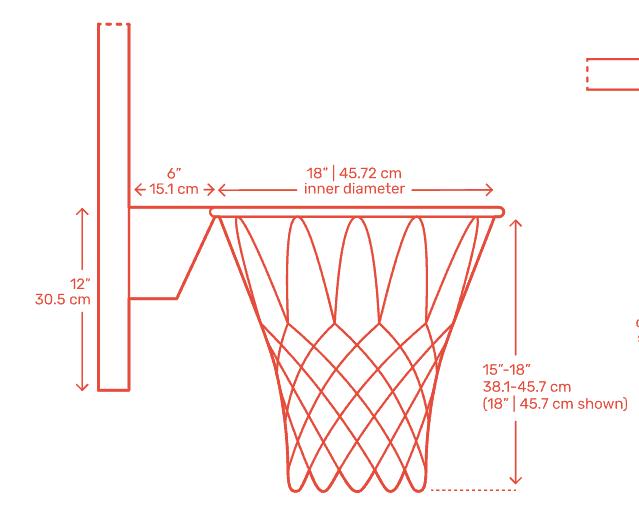 basketball net height