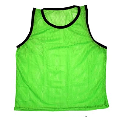 vests and pinnies to wear on the sideline