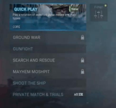 split screen warzone