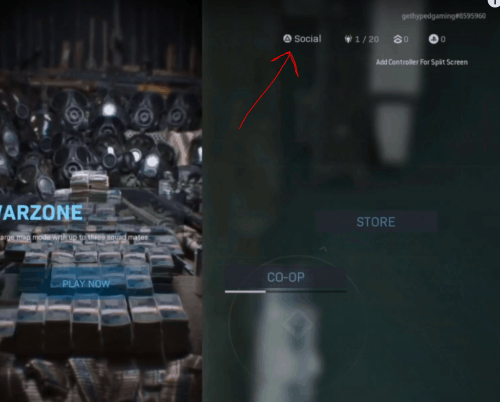 Add friends and crossplay in warzone