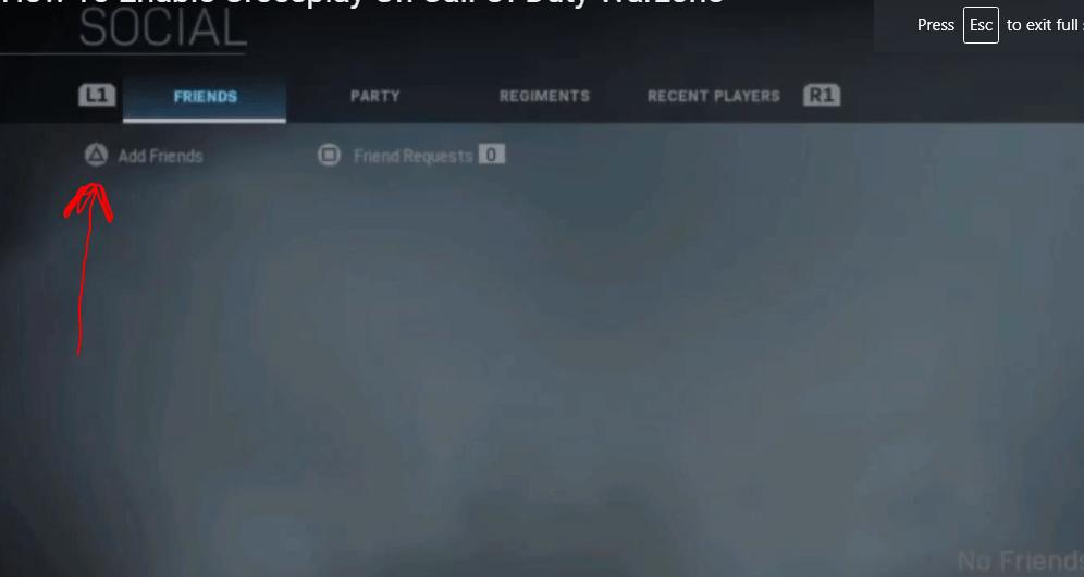 add friends in warzone
