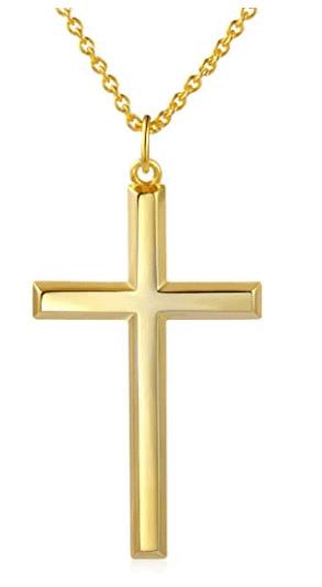 gold cross chain in baseball